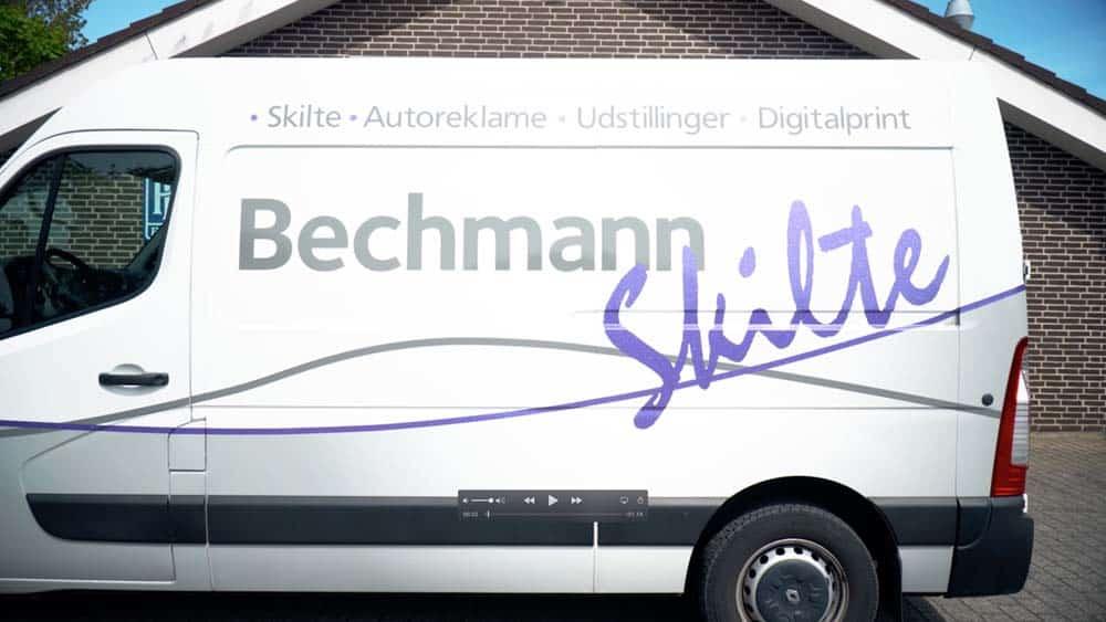 Bechmann Skilte Aalborg bilreklame